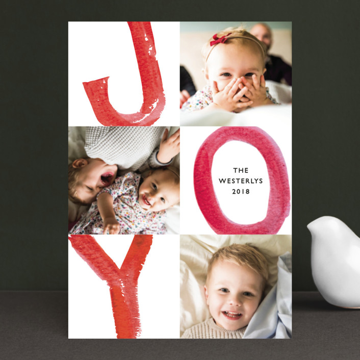 """Loud and Clear"" - Holiday Postcards in Candy Cane by Mansi."