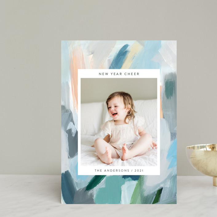 """Paint Palette Cheer"" - Holiday Postcards in Pastel by Nicole Walsh."