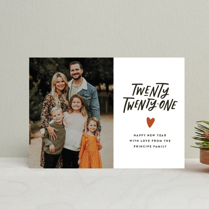 """""""Hand and Heart"""" - Bohemian Holiday Postcards in Clementine by Up Up Creative."""