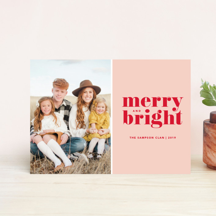 """""""Cheerful Merry"""" - Holiday Postcards in Candy by Kristen Smith."""