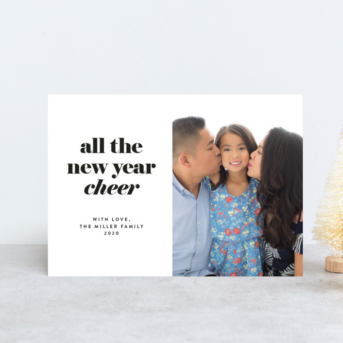 """""""all the happy"""" - Holiday Postcards in Ebony by JoAnn Jinks."""