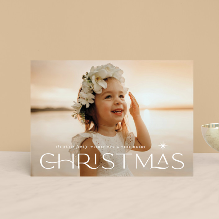 """""""Star light"""" - Vintage Holiday Postcards in Snow by Lauren Chism."""