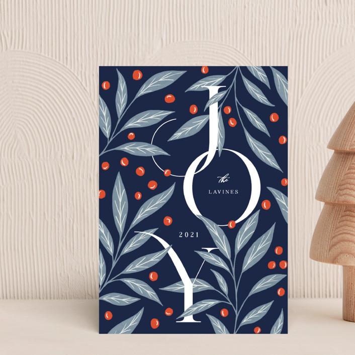 """Field Joy"" - Holiday Postcards in Midnight by Yaling Hou Suzuki."