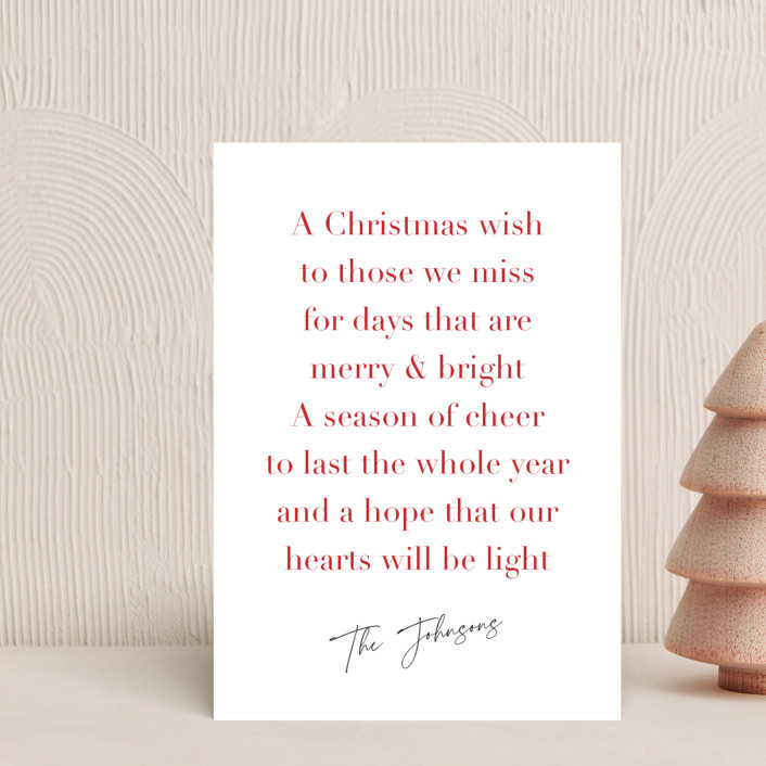 """Christmas Wish"" - Holiday Postcards in Candy Cane by Kelly Nasuta."