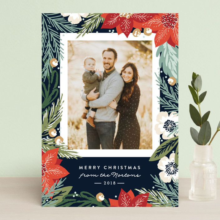 """""""Winter Botanicals"""" - Holiday Postcards in Latte by Alethea and Ruth."""