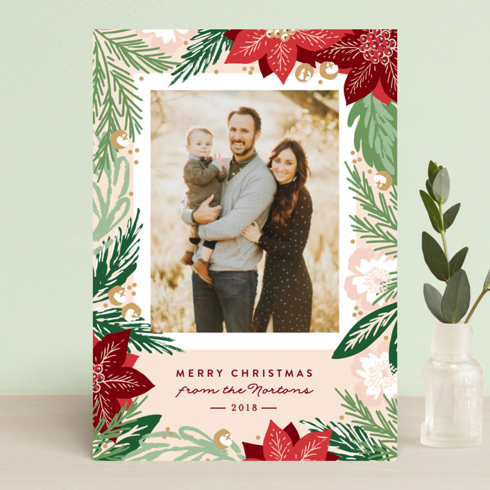 """""""Winter Botanicals"""" - Holiday Postcards in Deep Ocean by Alethea and Ruth."""