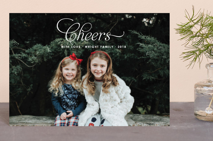 """Christmas Blessing"" - Holiday Postcards in Snow by Toast & Laurel."