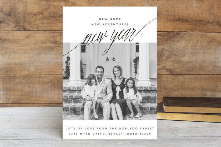 """""""New Adventures"""" - Holiday Postcards in Onyx by Oscar and Emma - Karly Depew."""