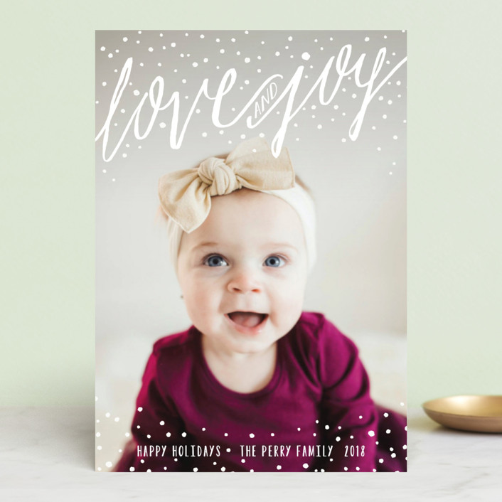 """Snowy Love and Joy"" - Holiday Postcards in Snow by Melanie Severin."