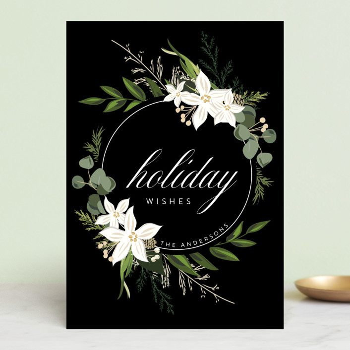 """Holiday Wishes"" - Holiday Postcards in Ebony by Susan Moyal."