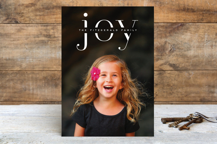"""Smart Joy"" - Holiday Postcards in Frost by Hooray Creative."