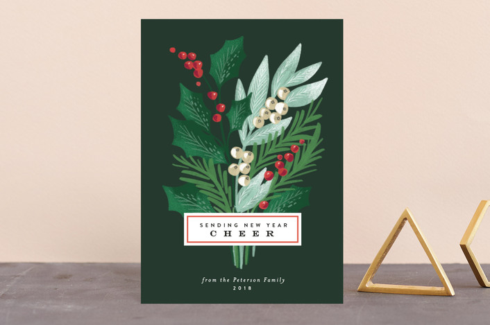 """""""Holiday Pine Bouquet"""" - Holiday Postcards in Pine by Alethea and Ruth."""