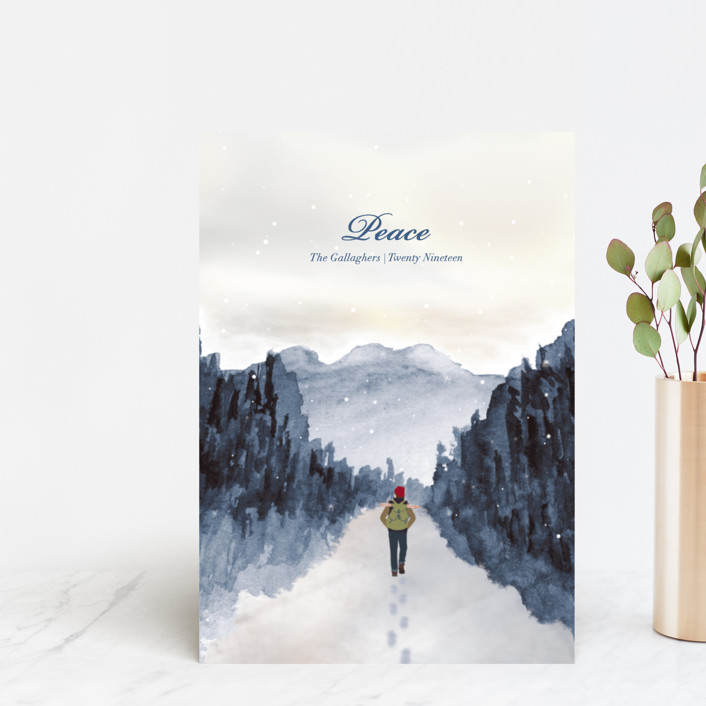 """""""Peace of Quiet"""" - Holiday Postcards in Cool by Shannon."""