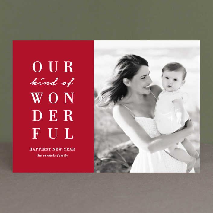 """Our Wonderful"" - Holiday Postcards in Candy Cane by Kaydi Bishop."