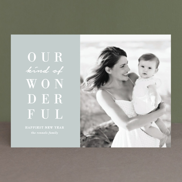 """""""Our Wonderful"""" - Holiday Postcards in Midnight by Kaydi Bishop."""