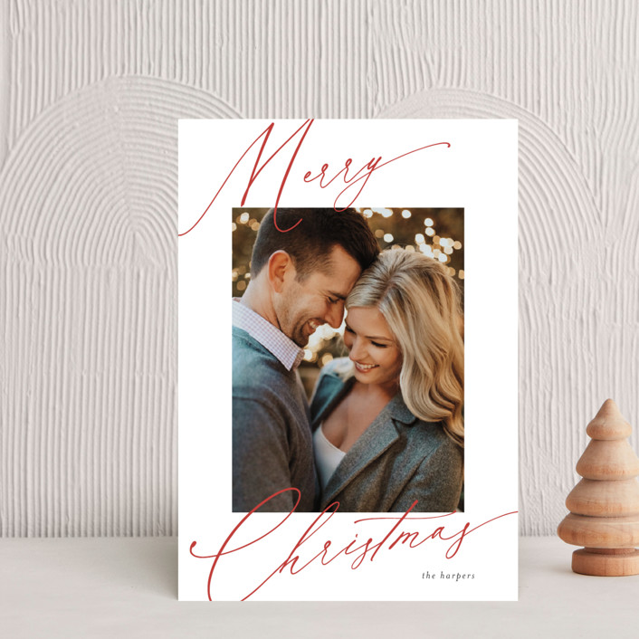 """""""scripted greeting"""" - Holiday Postcards in Holly by Kasia Labocki."""
