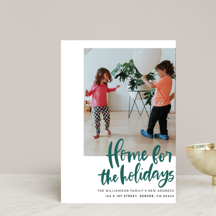 """""""Home Sweet Holiday Home"""" - Holiday Postcards in Leaf by Vine and Thistle."""