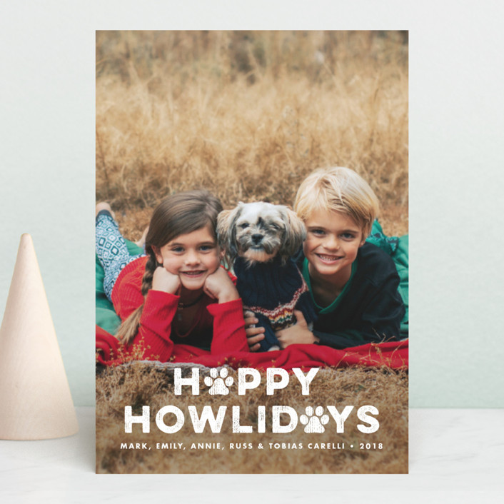 """Howliday Paws"" - Holiday Postcards in Snow by Brooke Chandler."