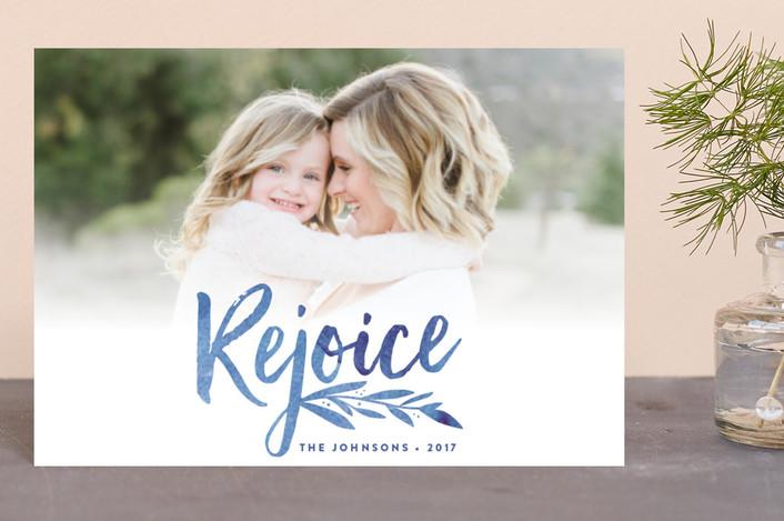 """Vivid Rejoice"" - Holiday Postcards in Blue Velvet by Olivia Raufman."