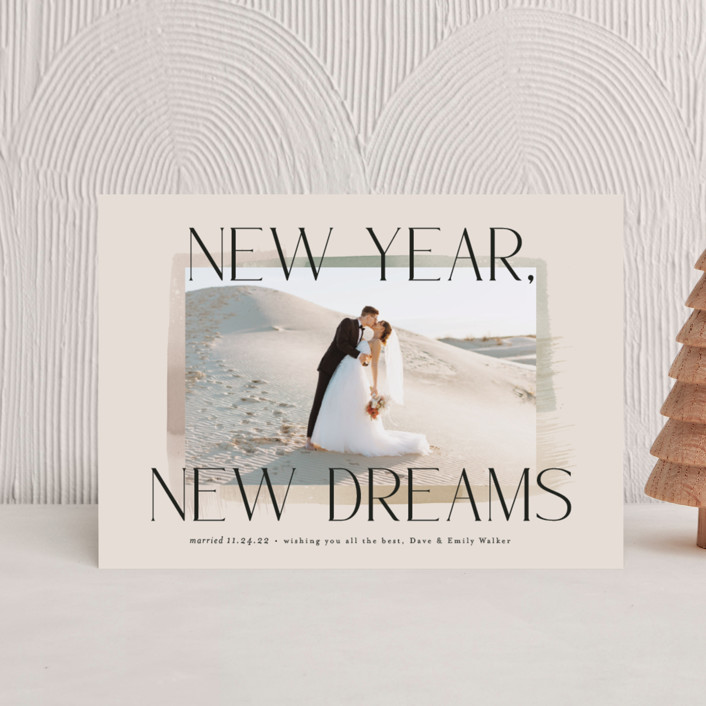 """""""New Year, New Dreams"""" - Holiday Postcards in Toffee by Alethea and Ruth."""