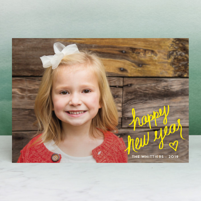 """Signature"" - Holiday Postcards in Daffodil by Kaydi Bishop."