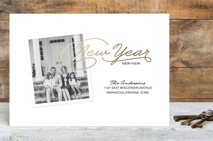 """""""New Year, New View"""" - Holiday Postcards in Golden by Bethany Anderson."""