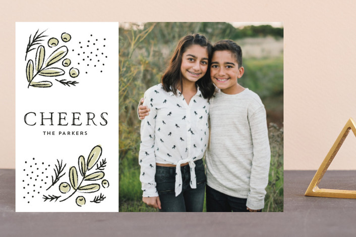 """""""Cheerful branches"""" - Holiday Postcards in Ivory by iamtanya."""