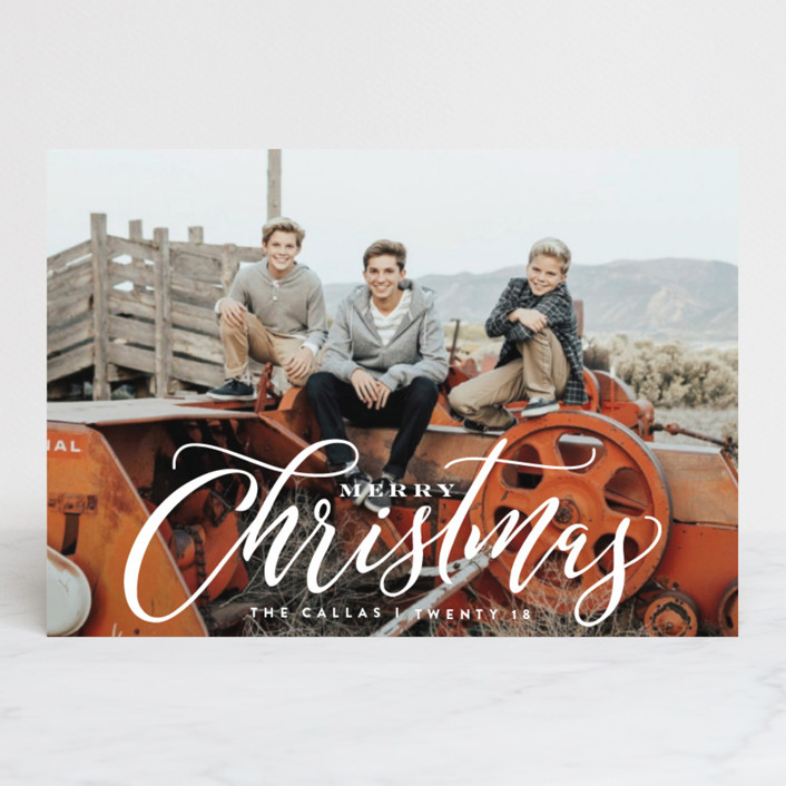 """""""Classic Xmas"""" - Holiday Postcards in Snow by Carrie ONeal."""