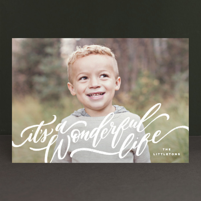 """""""A Sweet + Wonderful Life"""" - Holiday Postcards in Winter by Wildfield Paper Co.."""