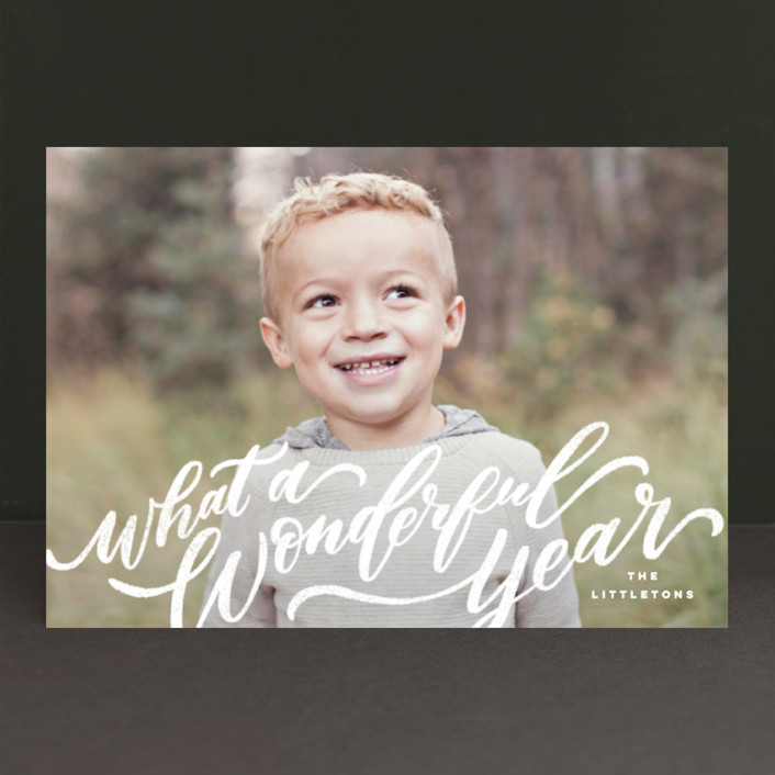 """A Sweet + Wonderful Life"" - Holiday Postcards in Winter by Wildfield Paper Co.."