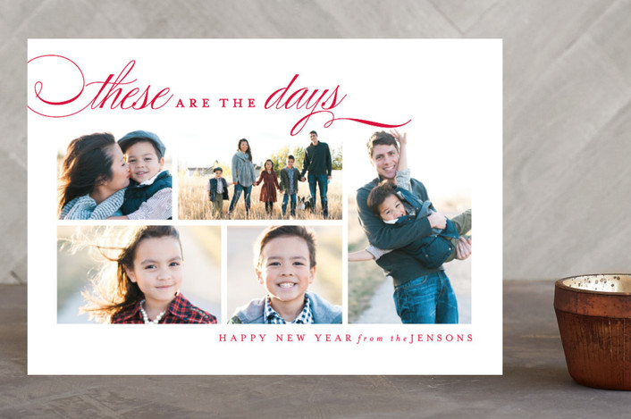 """These Days"" - Holiday Postcards in Berry by Kristie Kern."