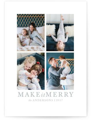make it merrier Holiday Postcards