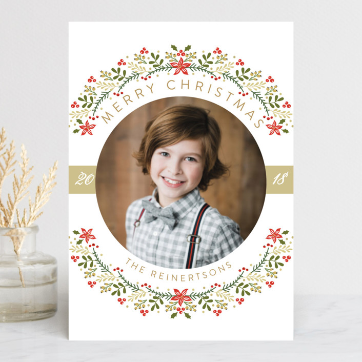 """The Most Wonderful Time Of The Year!"" - Holiday Postcards in Creme by Susan Moyal."