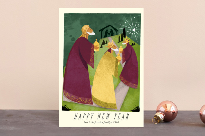 """""""A Christmas Story"""" - Vintage Holiday Postcards in Amethyst by Ana de Sousa."""