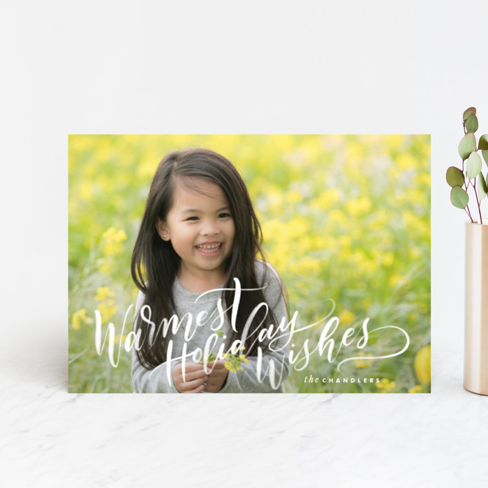 """Warmth"" - Holiday Postcards in Snow by Leah Bisch."