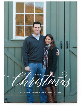 Christmas Scripted Holiday Postcards
