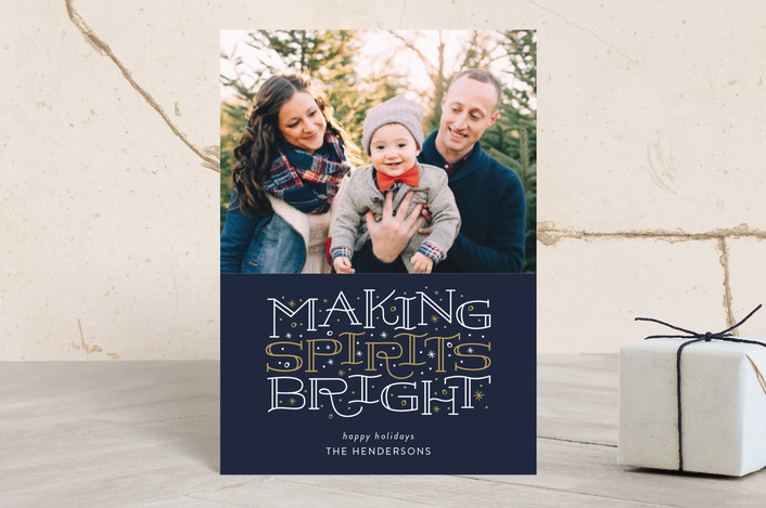 """""""Brightest Spirits"""" - Holiday Postcards in Midnight by Sarah Guse Brown."""