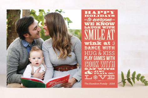 Vintage Typography Message Holiday Postcards