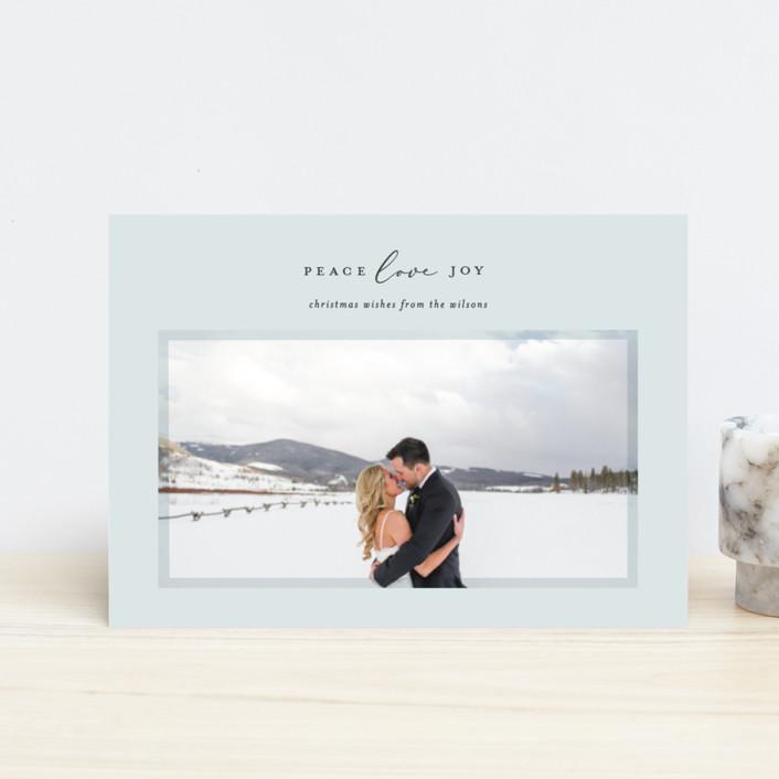 """Serene Frame"" - Holiday Postcards in Ice by Ekko Studio."