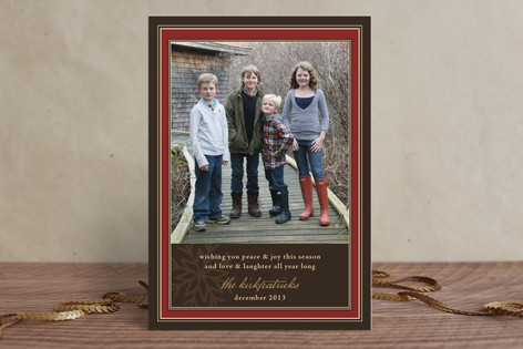 Snowflake Frame Holiday Postcards