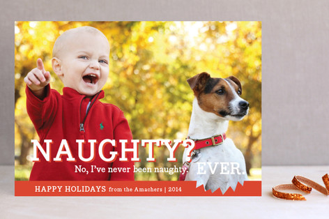 Naughty or Nice Holiday Postcards