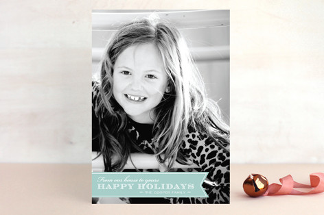 Red Ribbon Happiness Holiday Postcards