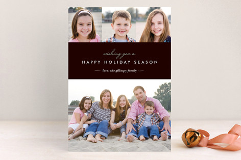 Winter Chic Holiday Postcards