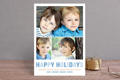 Minimal Trio Holiday Postcards
