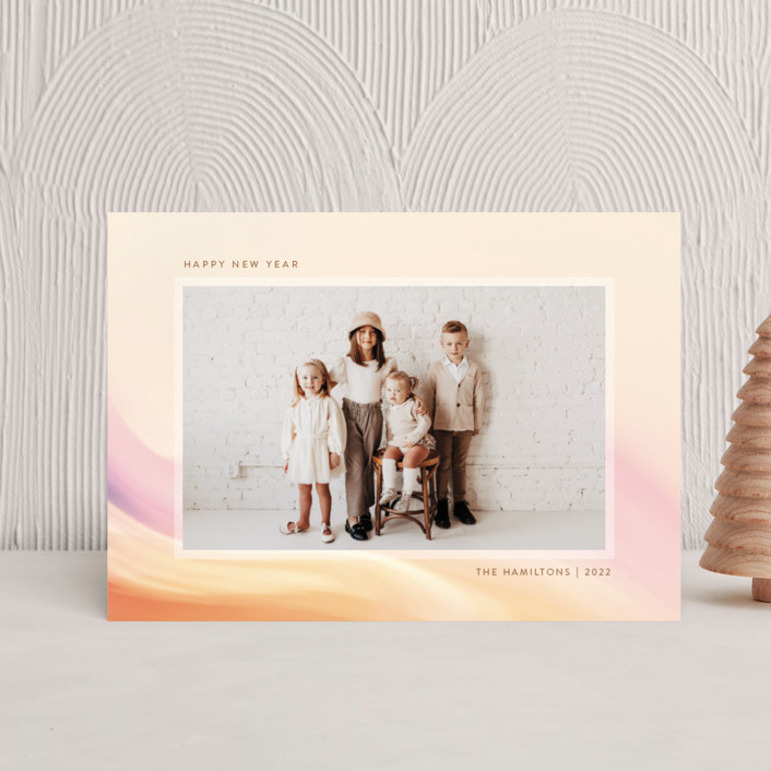 """""""painted light"""" - Holiday Postcards in Creamsicle by Kamala Nahas."""