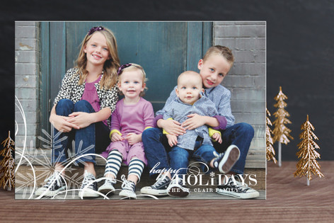 Snowflake Whimsy Holiday Postcards