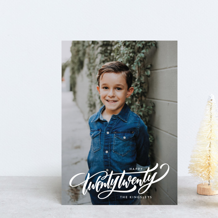 """""""Cross All of the Ts"""" - Holiday Postcards in Snow by Laura Bolter Design."""