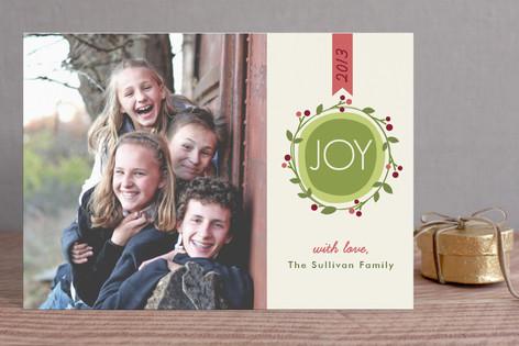 Joyful Modern Wreath Holiday Postcards