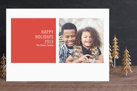 Modern Geometric Holiday Postcards