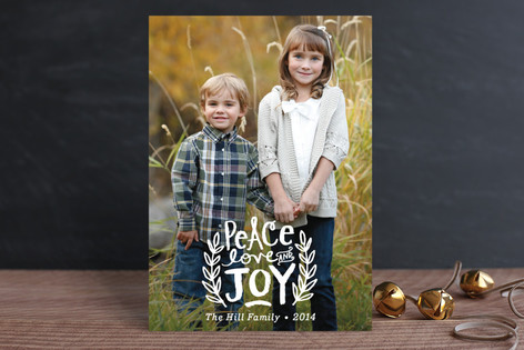 Peace, Love and Joy Branches Holiday Postcards